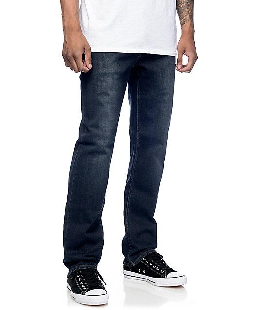 8ec922ab Volcom Solver Regular Fit Vintage Blue Jeans | Zumiez