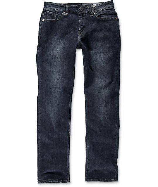Volcom Solver Regular Fit Vintage Blue Jeans ...