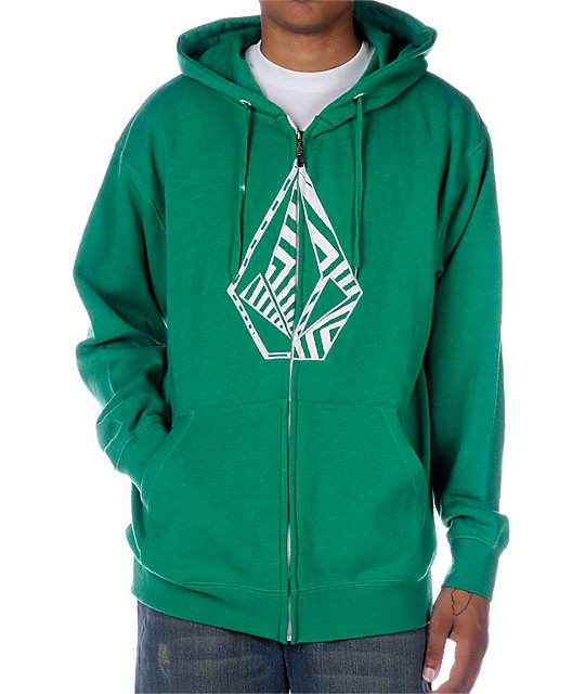 Volcom Spacer Stone Fill Green Hoodie