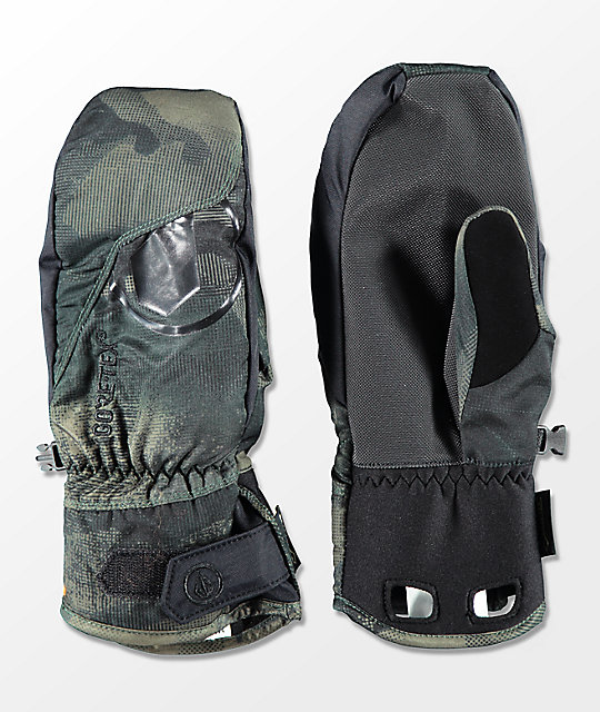 Volcom Stay Dry Camo Gore-Tex Snowboard Mittens