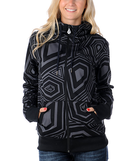 Volcom Stone Culture Black Tech Fleece Jacket