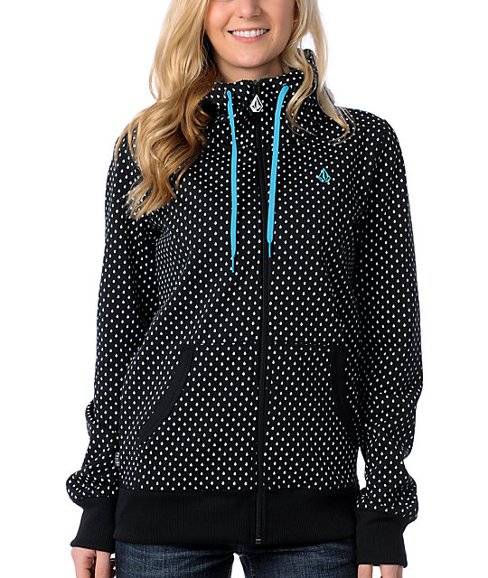 Volcom Stone Dot Tech Fleece Black Jacket