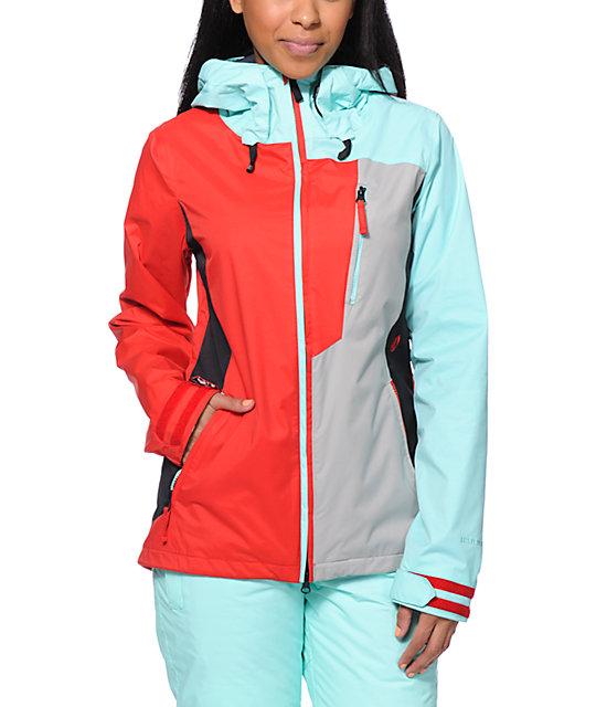 Volcom Stone Red Mint 10k Snowboard Jacket Zumiez