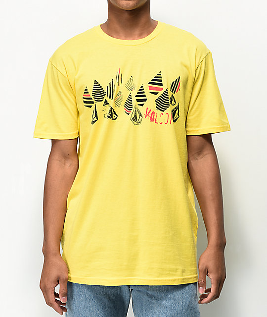 Volcom Stripe Stone Yellow T-Shirt