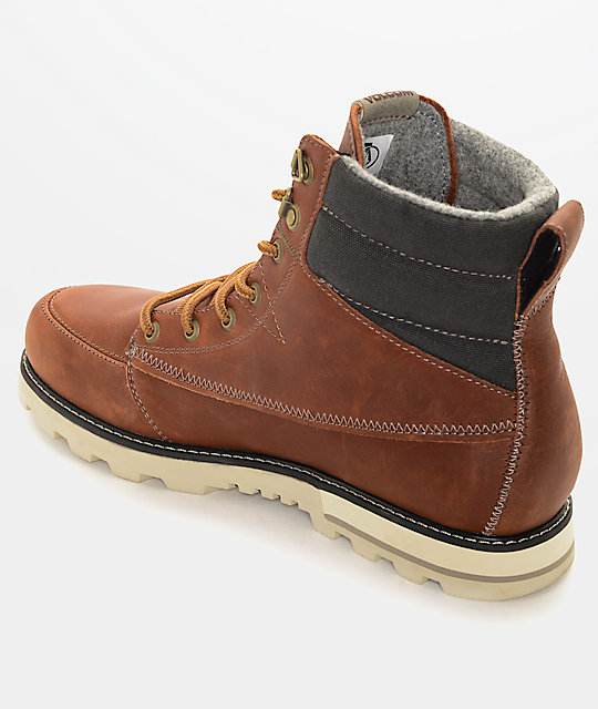 Volcom Sub Zero Rust Brown Premium Leather Boots