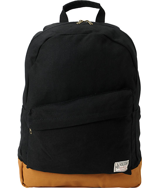 9dc73e6a000 Volcom Supply   Demand Black Backpack