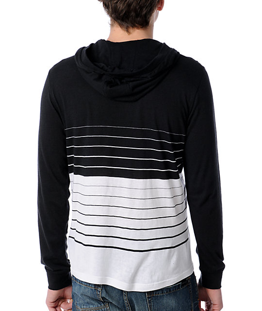 Volcom Switch Up Black & White Hooded Shirt