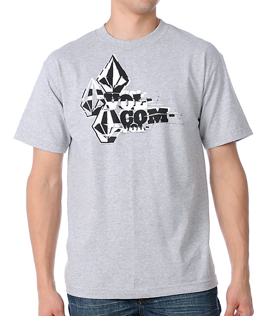 Volcom Tape Cut Grey T-Shirt