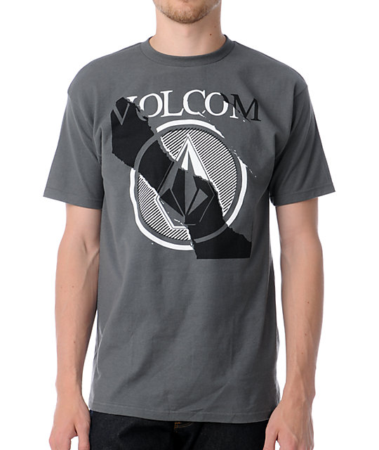 Volcom Tear Down Charcoal Grey T-Shirt