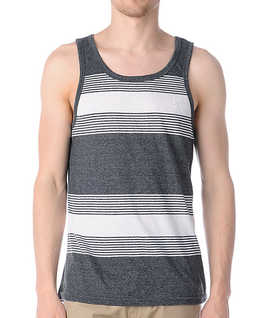 Volcom Tenner White & Grey Tank Top