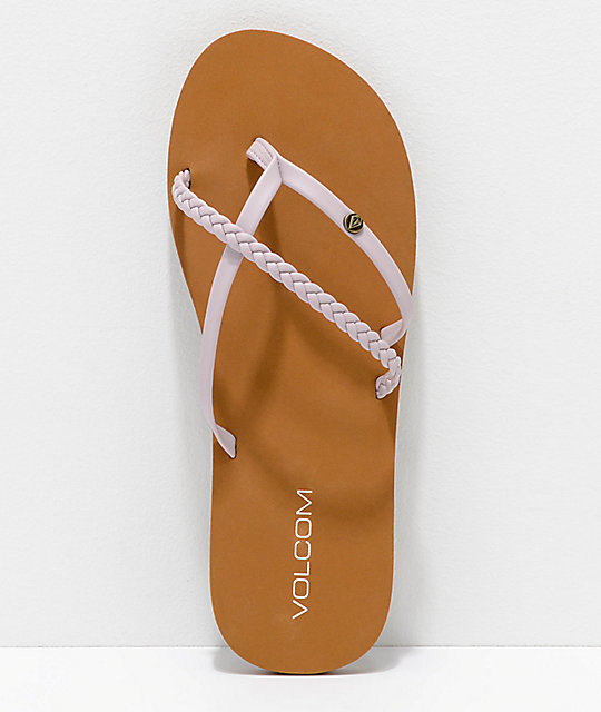 Volcom Thrills Steel Purple Thong Sandals