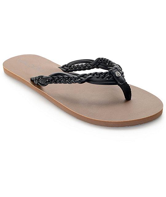 5c4cbf5510d73b Volcom Tipsy Black Sandals