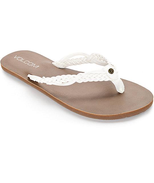 Volcom Tipsy White Sandal ...