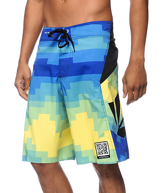 Volcom V6S Pixelater Yellow 21 Board Shorts