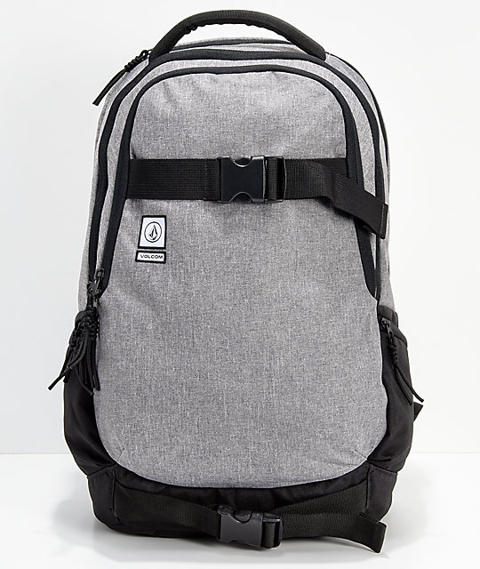 Volcom Vagabond Stone Grey Black Backpack