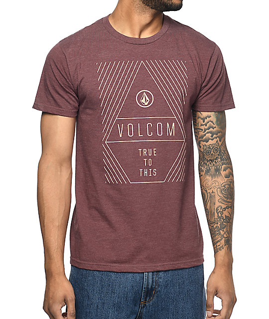 Volcom Vanish Burgundy T-Shirt   Zumiez