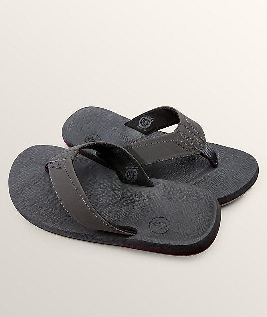 02c80f86ae9bd Volcom Victor Grey Vintage Sandals
