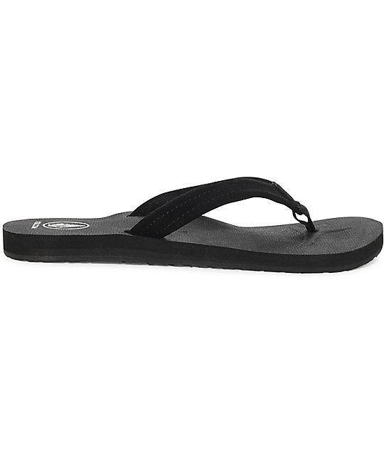Volcom Women's Victoria Sandal Flip Flop, Black, 7 W US