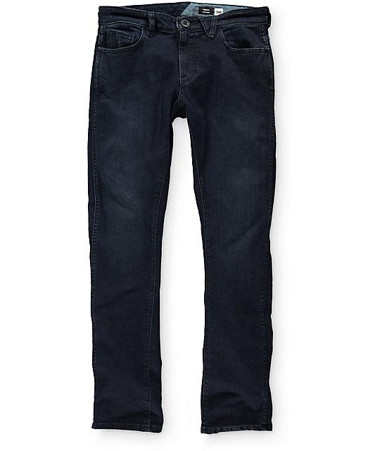 Volcom Vorta Form BDR Dark Blue Slim Fit Jeans ...