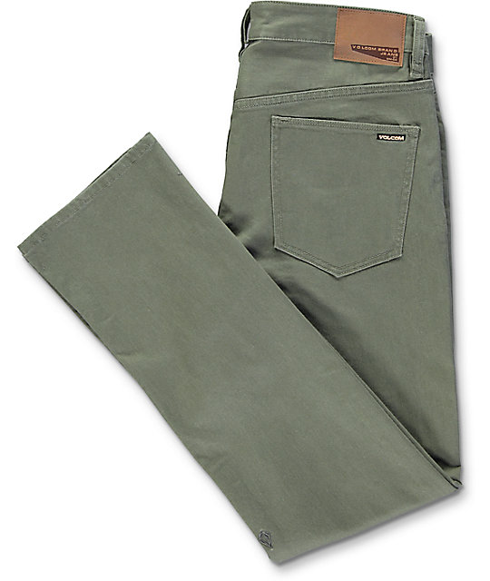 Volcom Vorta Military Green Slim Fit Jeans