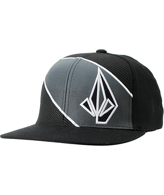 Volcom Voster Black FlexFit Hat  1c56de86552
