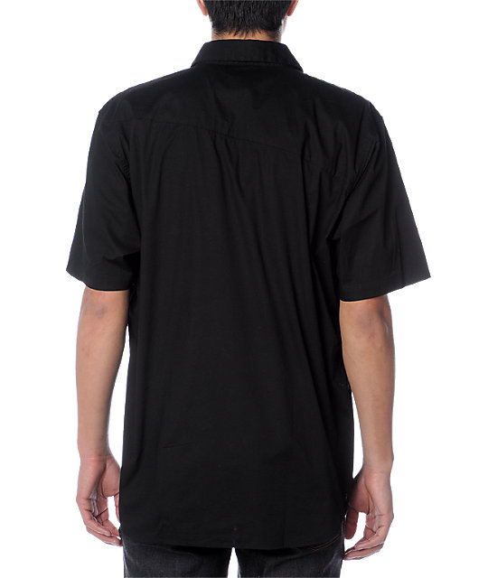 Volcom X-Factor Black Woven Shirt