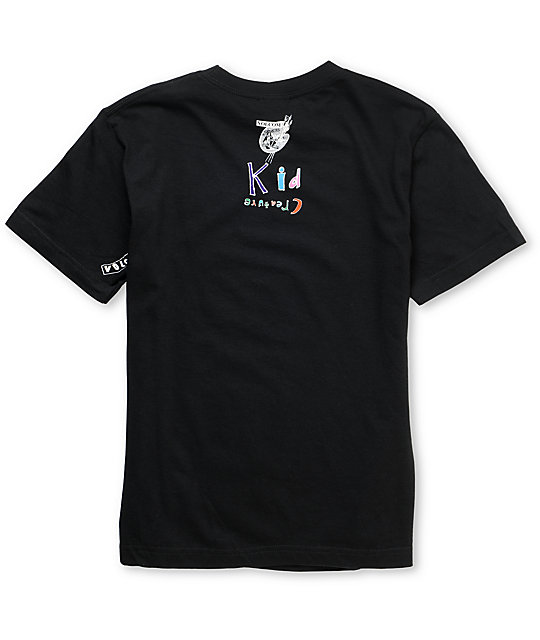 Volcom x Kid Creature Boys Tooth Fairy Black T-Shirt