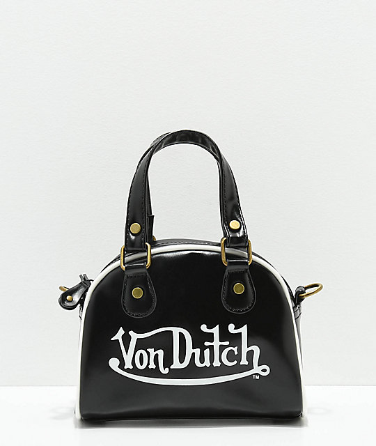 Von Dutch Black Bowling Bag Purse