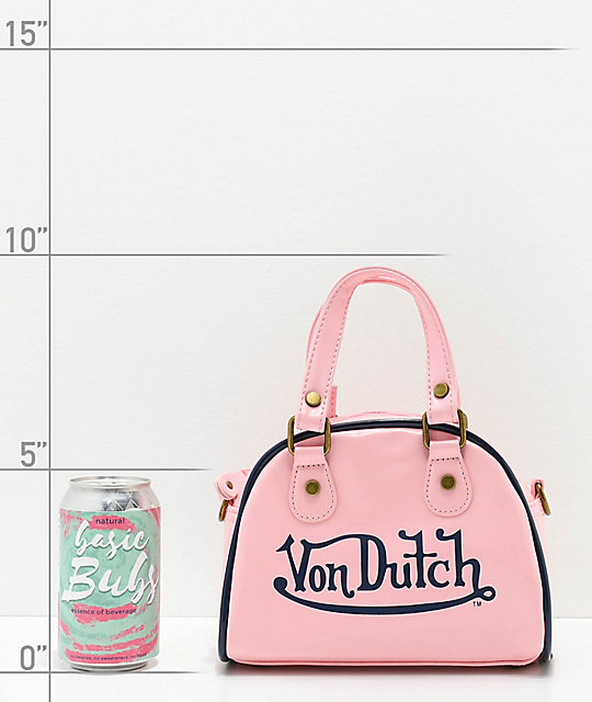 Von Dutch Light Pink Bowling Bag Purse