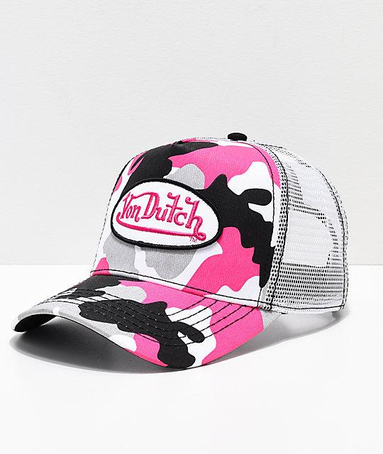 ad5ce0b9f10ab Von Dutch gorra de camionero de camuflaje rosa
