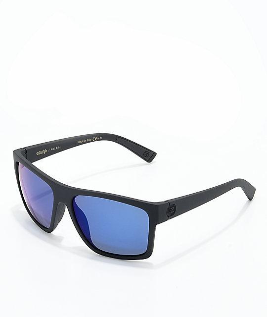 f594f7b2f49 Von Zipper Dipstick Polarized Black Satin   Blue Sunglasses