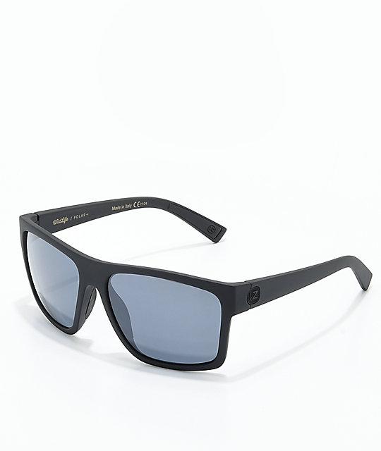 ec3d7307a32 Von Zipper Dipstick Polarized Black Satin   Silver Sunglasses