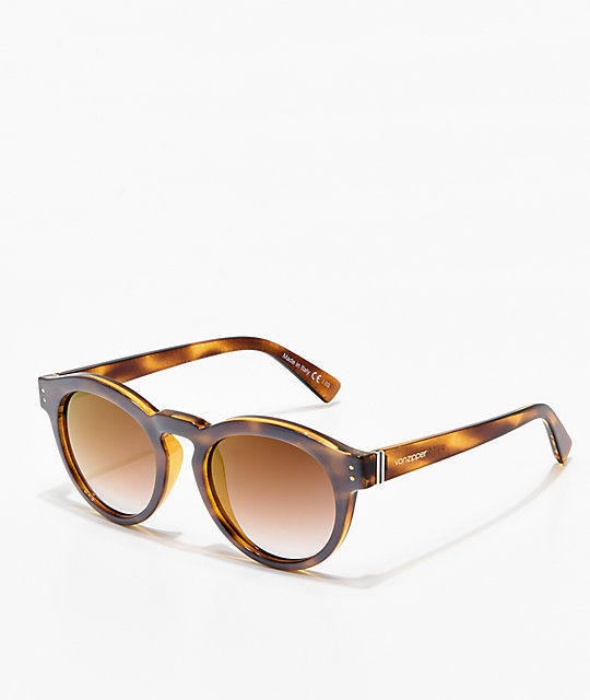 Von Zipper Ditty Frosted Tortoise & Gold Sunglasses