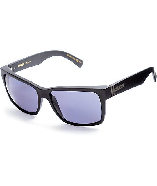 b2e817215d Von Zipper Elmore Black Satin   Grey Polarized Sunglasses