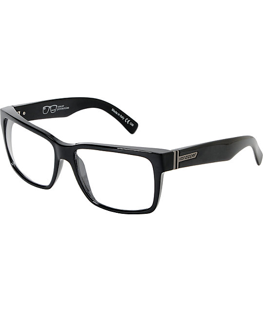 9ef9be3309 Von Zipper Elmore Nerdz Gloss Black Sunglasses