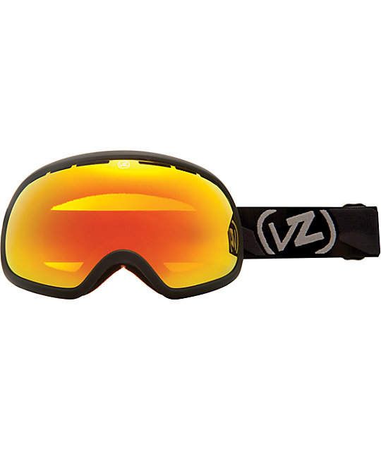 Von Zipper Fishbowl Satin Black & Fire Chrome Goggles
