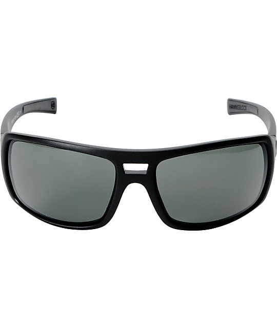 a9d6c9983a ... Von Zipper Hammerlock Black Satin   Grey Sunglasses