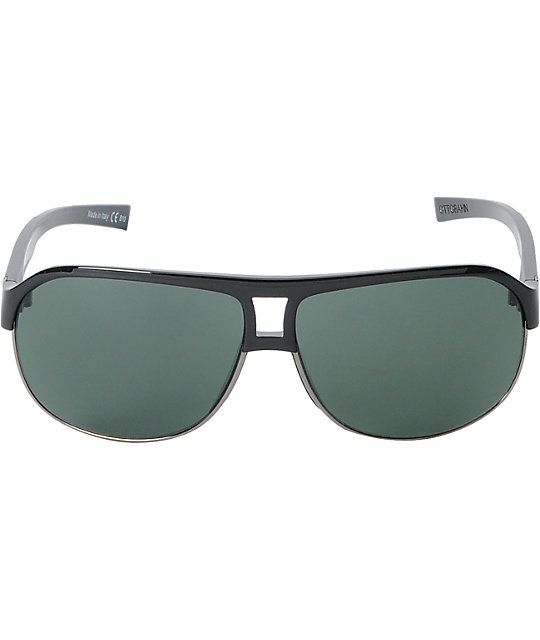 Von Zipper Ottobahn Black Gloss Black & Grey Sunglasses