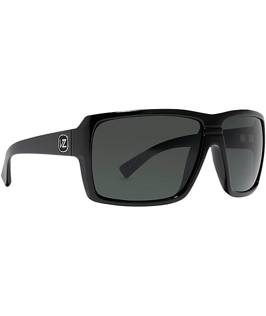 Von Zipper Panzer Black Satin & Grey Sunglasses