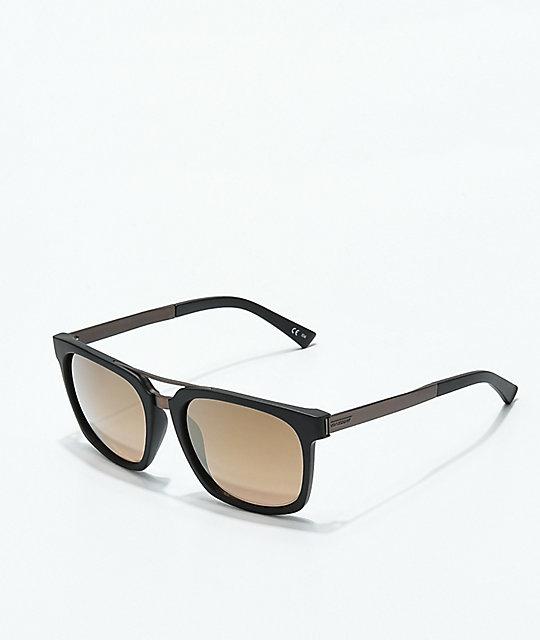b81aaab771a7a Von Zipper Plimpton Black Satin   Rust Sunglasses