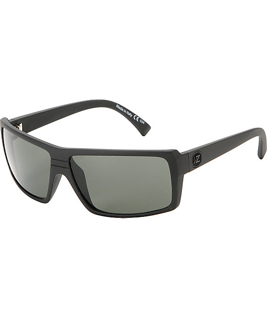 022c0ff4c3c3 Von Zipper Snark Satin Black & Grey Lens Sunglasses | Zumiez