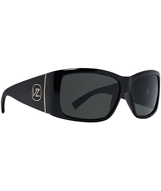 Von Zipper Southpaw Black Gloss & Grey Sunglasses