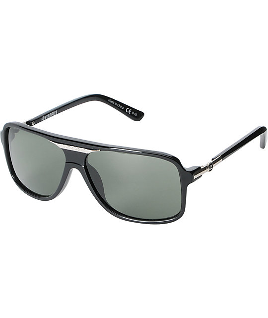 Von Zipper Stache Black Sunglasses