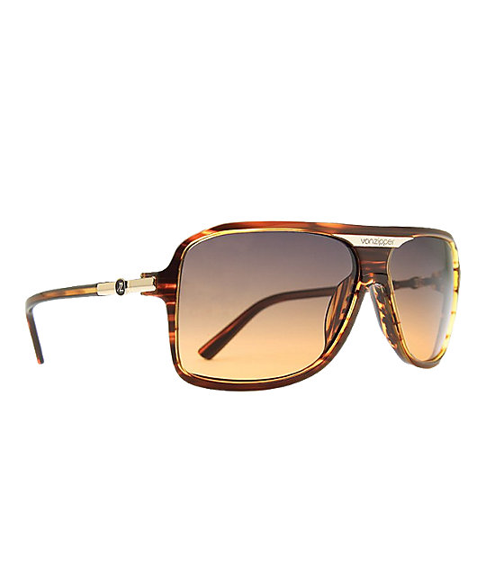Von Zipper Stache Tort Gradient Sunglasses