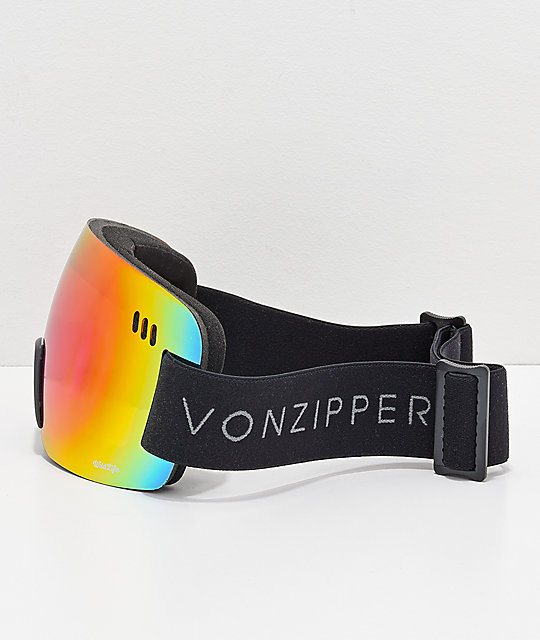b4f0582fc7 ... VonZipper Alt XM Wildlife Black Satin Chrome Snowboard Goggles