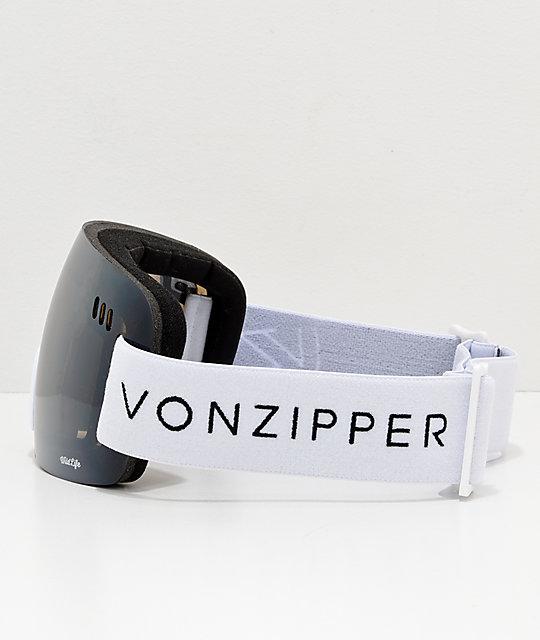 979dbd8185 ... VonZipper Alt XM Wildlife White Satin Chrome Snowboard Goggles