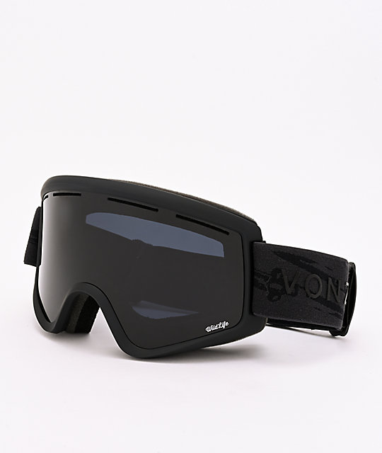 VonZipper Cleaver Wildlife Blackout gafas de snowboard en negro satinado