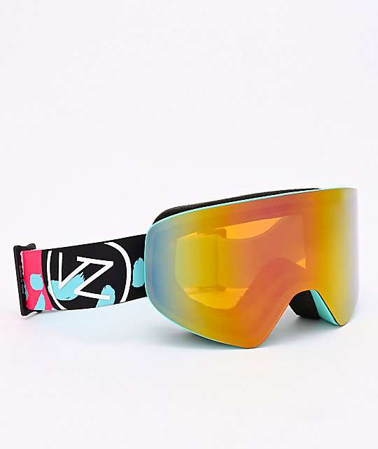 VonZipper Encore Mint Satin & Pink Chrome Snowboard Goggles
