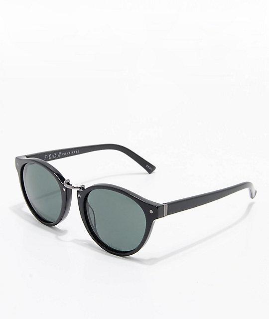 VonZipper F.C.G. Stax Vintage Black Gloss   Green Sunglasses  d9f27bf17f