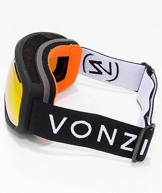 VonZipper Skylab Black Satin Fire Chrome Snowboard Goggles 2018